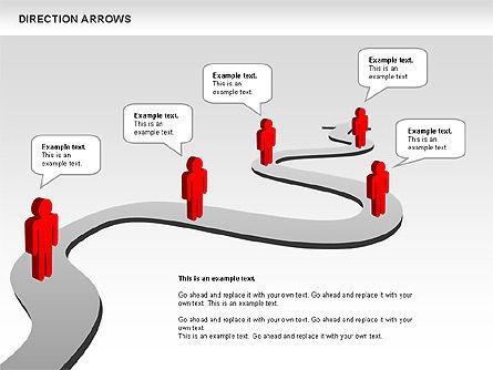 Direction Arrows, Slide 7, 00696, Shapes — PoweredTemplate.com