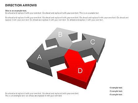 Direction Arrows, Slide 8, 00696, Shapes — PoweredTemplate.com