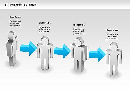 Efficiency Diagram, Slide 3, 00697, Business Models — PoweredTemplate.com