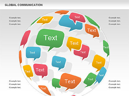 Global Communication Shapes, Slide 3, 00700, Shapes — PoweredTemplate.com