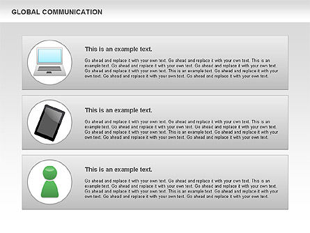 Global Communication Shapes, Slide 4, 00700, Shapes — PoweredTemplate.com