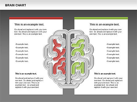 Brain Chart, Slide 14, 00701, Stage Diagrams — PoweredTemplate.com