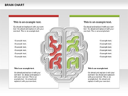 Brain Chart, Slide 4, 00701, Stage Diagrams — PoweredTemplate.com