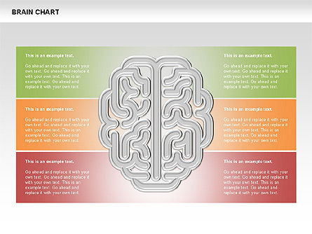 Brain Chart, Slide 6, 00701, Stage Diagrams — PoweredTemplate.com
