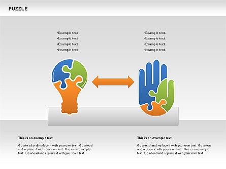 Puzzled Shapes Collection, Slide 4, 00702, Puzzle Diagrams — PoweredTemplate.com