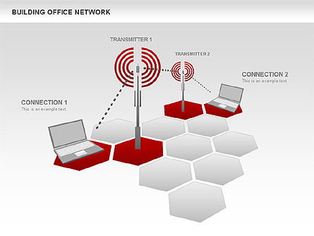 Office Network Diagram, 00704, Business Models — PoweredTemplate.com