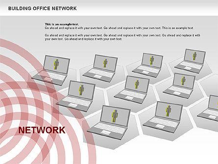 Office Network Diagram, Slide 10, 00704, Business Models — PoweredTemplate.com
