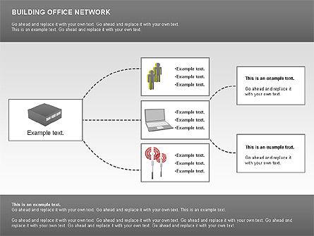Office Network Diagram, Slide 11, 00704, Business Models — PoweredTemplate.com