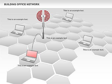 Office Network Diagram, Slide 12, 00704, Business Models — PoweredTemplate.com