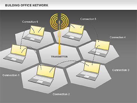 Office Network Diagram, Slide 13, 00704, Business Models — PoweredTemplate.com