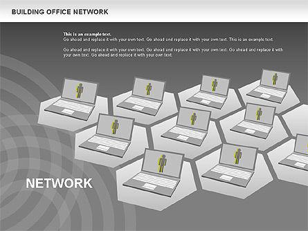 Office Network Diagram, Slide 15, 00704, Business Models — PoweredTemplate.com
