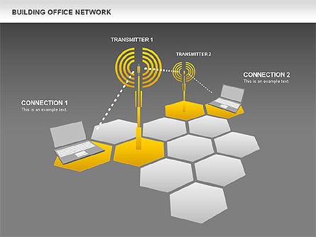 Office Network Diagram, Slide 16, 00704, Business Models — PoweredTemplate.com