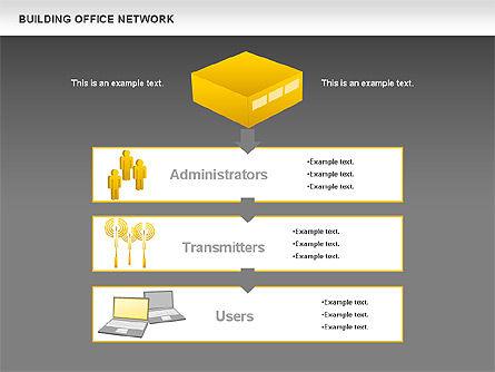 Office Network Diagram, Slide 17, 00704, Business Models — PoweredTemplate.com