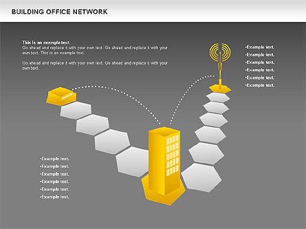 Office Network Diagram, Slide 18, 00704, Business Models — PoweredTemplate.com