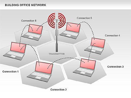 Office Network Diagram, Slide 2, 00704, Business Models — PoweredTemplate.com