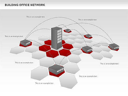Office Network Diagram, Slide 3, 00704, Business Models — PoweredTemplate.com