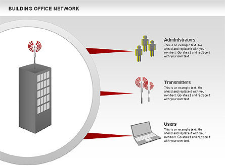 Office Network Diagram, Slide 4, 00704, Business Models — PoweredTemplate.com