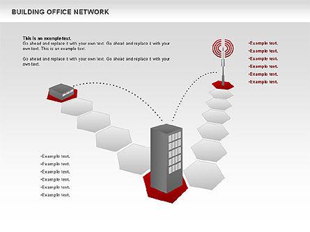 Office Network Diagram, Slide 5, 00704, Business Models — PoweredTemplate.com