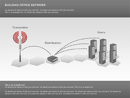 Office Network Diagram, Slide 6, 00704, Business Models — PoweredTemplate.com