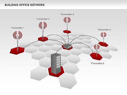 Office Network Diagram, Slide 7, 00704, Business Models — PoweredTemplate.com