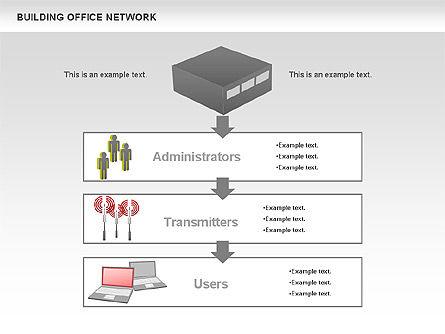 Office Network Diagram, Slide 9, 00704, Business Models — PoweredTemplate.com