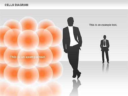 Cells Diagram, Slide 2, 00705, Business Models — PoweredTemplate.com