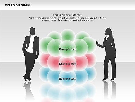 Cells Diagram, Slide 3, 00705, Business Models — PoweredTemplate.com
