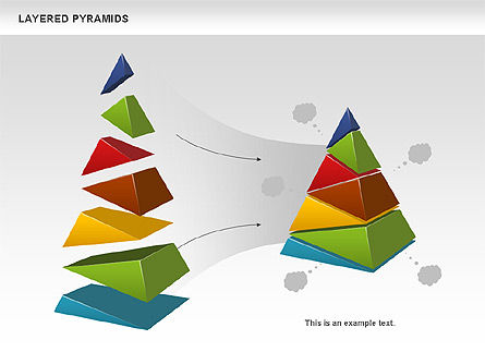 Business Models: Colorful Layered Pyramids #00708