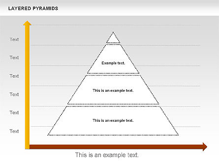 Colorful Layered Pyramids, Slide 12, 00708, Business Models — PoweredTemplate.com
