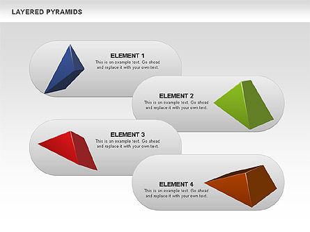 Colorful Layered Pyramids, Slide 15, 00708, Business Models — PoweredTemplate.com