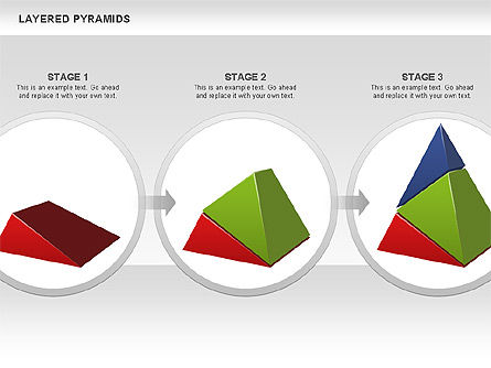 Colorful Layered Pyramids, Slide 16, 00708, Business Models — PoweredTemplate.com