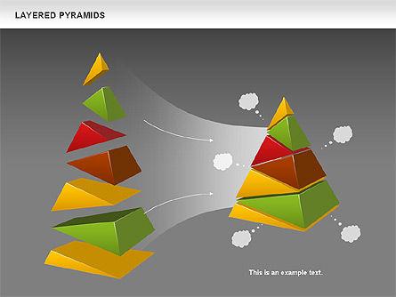 Colorful Layered Pyramids, Slide 17, 00708, Business Models — PoweredTemplate.com