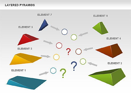 Colorful Layered Pyramids, Slide 2, 00708, Business Models — PoweredTemplate.com