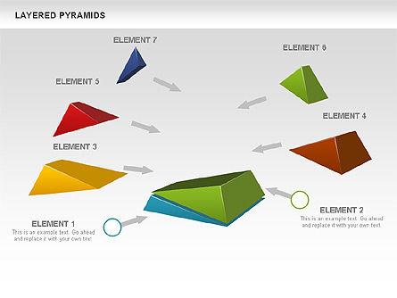 Colorful Layered Pyramids, Slide 4, 00708, Business Models — PoweredTemplate.com