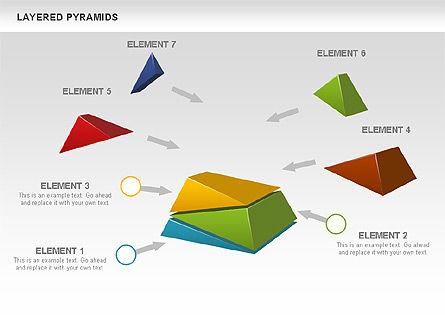 Colorful Layered Pyramids, Slide 5, 00708, Business Models — PoweredTemplate.com