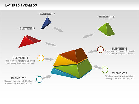 Colorful Layered Pyramids, Slide 6, 00708, Business Models — PoweredTemplate.com