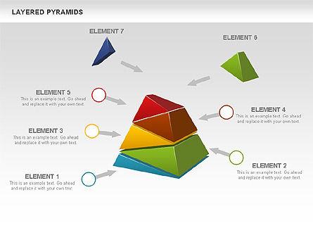 Colorful Layered Pyramids, Slide 7, 00708, Business Models — PoweredTemplate.com