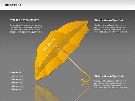 Umbrella Diagram, Slide 11, 00711, Silhouettes — PoweredTemplate.com