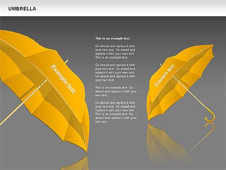 Umbrella Diagram, Slide 12, 00711, Silhouettes — PoweredTemplate.com