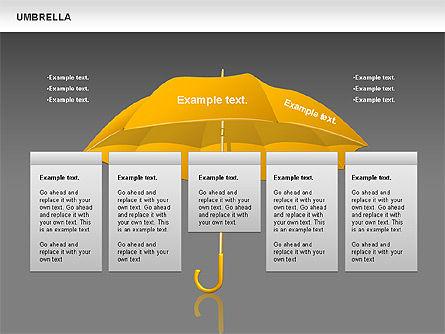 Umbrella Diagram, Slide 14, 00711, Silhouettes — PoweredTemplate.com