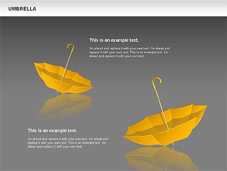 Umbrella Diagram, Slide 15, 00711, Silhouettes — PoweredTemplate.com
