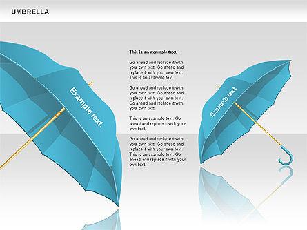 Umbrella Diagram, Slide 2, 00711, Silhouettes — PoweredTemplate.com