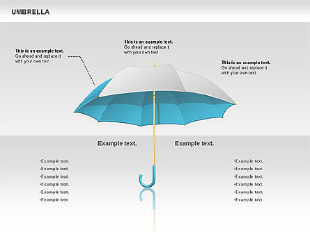 Umbrella Diagram, Slide 3, 00711, Silhouettes — PoweredTemplate.com