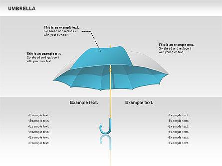 Umbrella Diagram, Slide 5, 00711, Silhouettes — PoweredTemplate.com