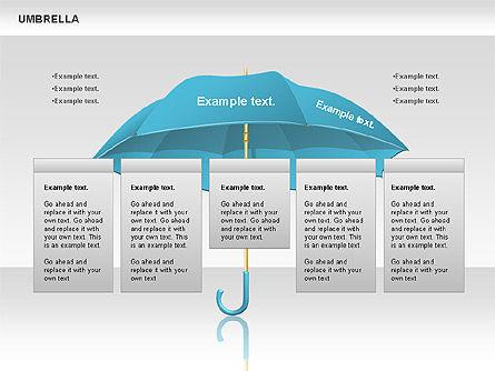Umbrella Diagram, Slide 6, 00711, Silhouettes — PoweredTemplate.com