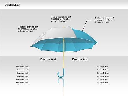 Umbrella Diagram, Slide 7, 00711, Silhouettes — PoweredTemplate.com