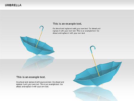 Umbrella Diagram, Slide 8, 00711, Silhouettes — PoweredTemplate.com