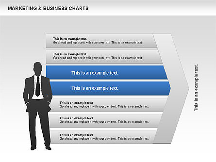 Marketing & Business Charts, 00712, Process Diagrams — PoweredTemplate.com