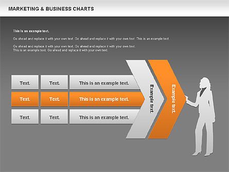 Marketing & Business Charts, Slide 12, 00712, Process Diagrams — PoweredTemplate.com