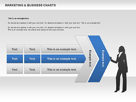 Marketing & Business Charts, Slide 3, 00712, Process Diagrams — PoweredTemplate.com